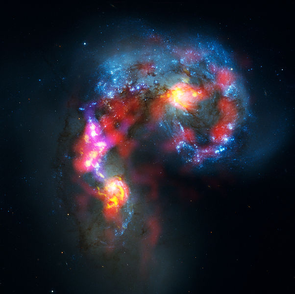 Antennae_Galaxies_composite_of_ALMA_and_Hubble_observations